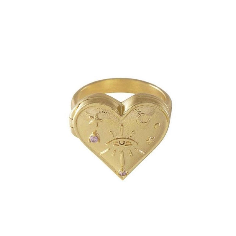 HARLOW LOCKET GOLD RING