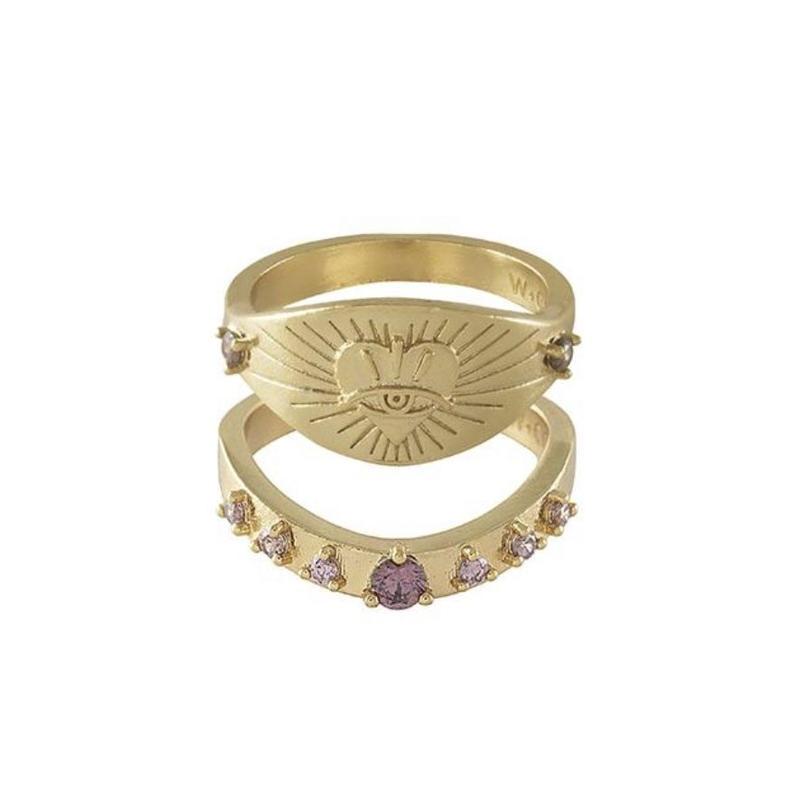 Harlow Gold Rings Set