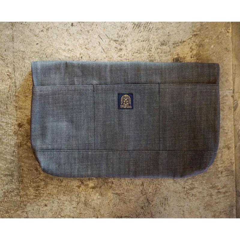 14oz Zimbabwe Denim Clutch Bag