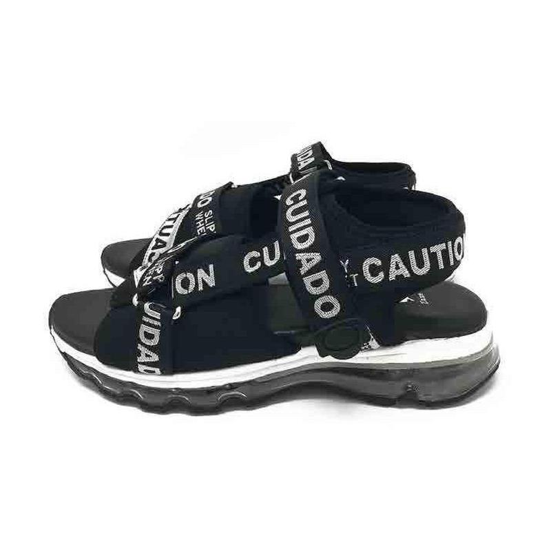 TM-NAME-0013 CAUTION SANDALS