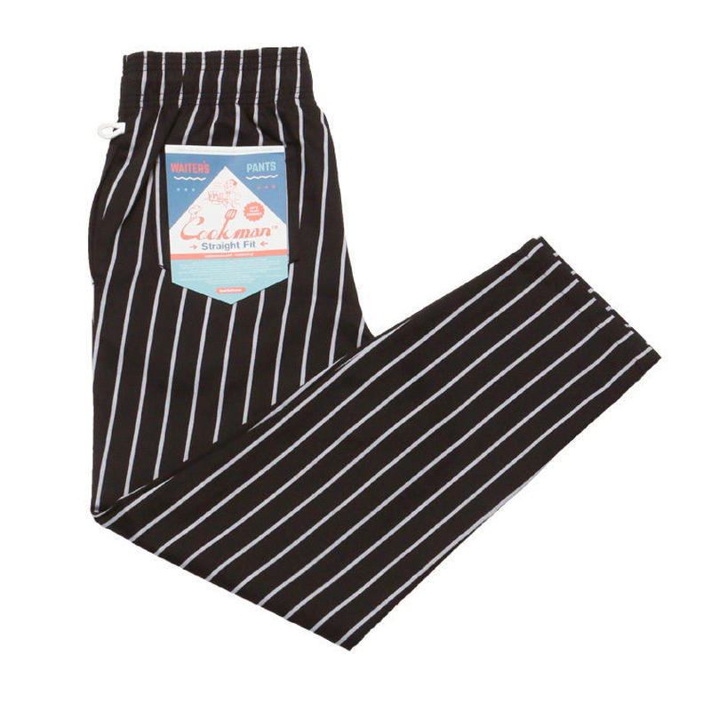 Waiter's Pants - Pinstripe Black