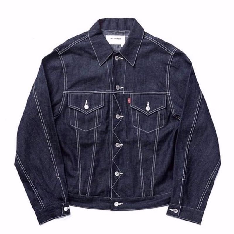 8oz DENIM JEAN JACKET (INDIGO RIGID)