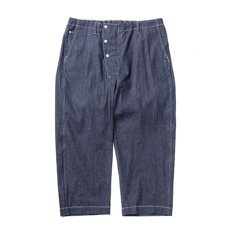 8oz DENIM HEM WIDE EASY PANTS