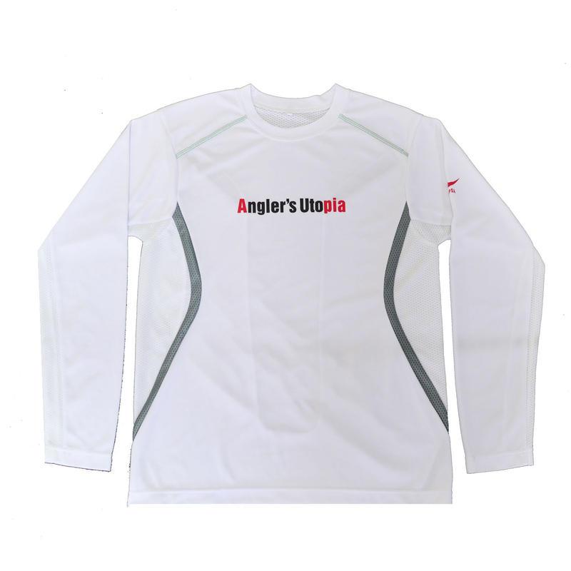 APIA スポーツドライメッシュTシャツ ロングスリーブ【ホワイト】