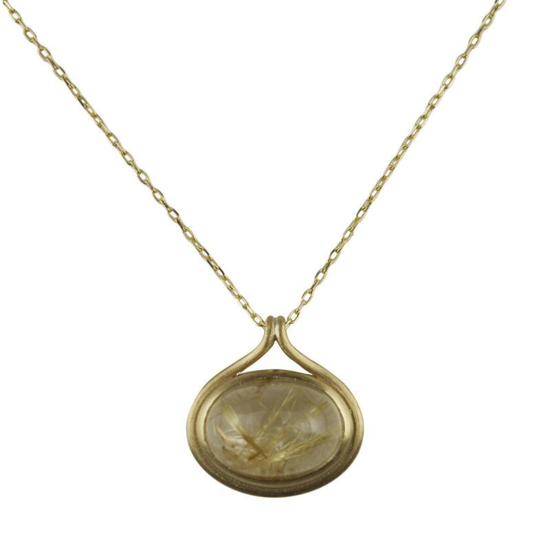primitive necklace (ルチルクォーツ)