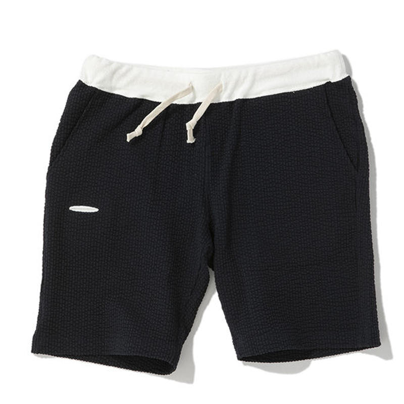 ※SEERSUCKER JERSEY SHORTS -DARK NAVY- H185-0503