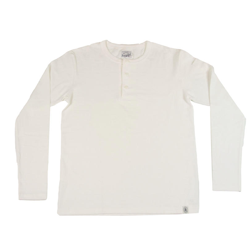 LOOPWHEEL HENLEY L/S T-SHIRTS -OFFWHITE- R185-0201