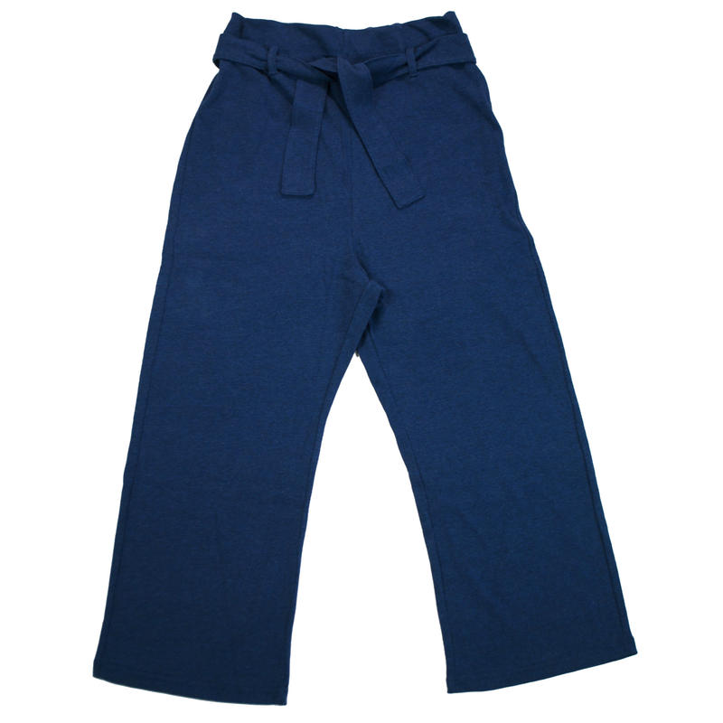 12/- JERSEY EASY PANTS for ladies -MIX NAVY- H185-0502