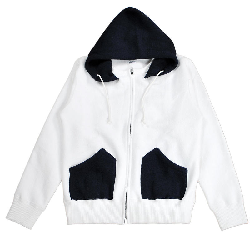 ※MERINGUE FLEECE ZIP PARKA -OFF WHITE- H183-0401