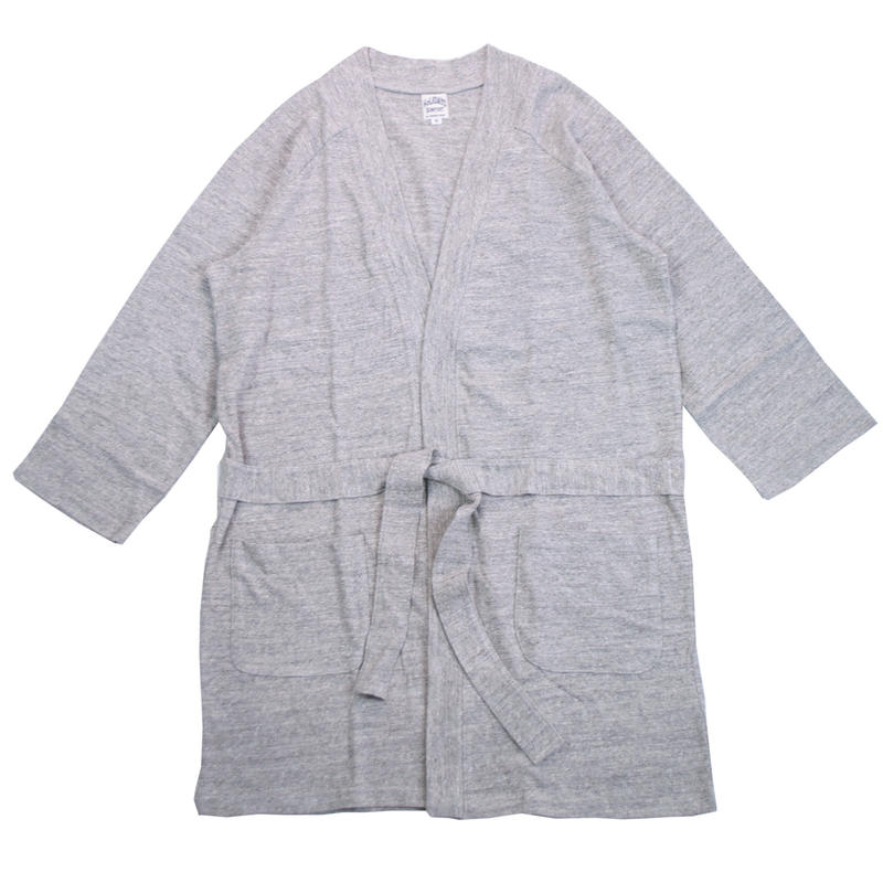 12/- JERSEY LONG CARDIGAN for men -MIX GRAY- H185-0601