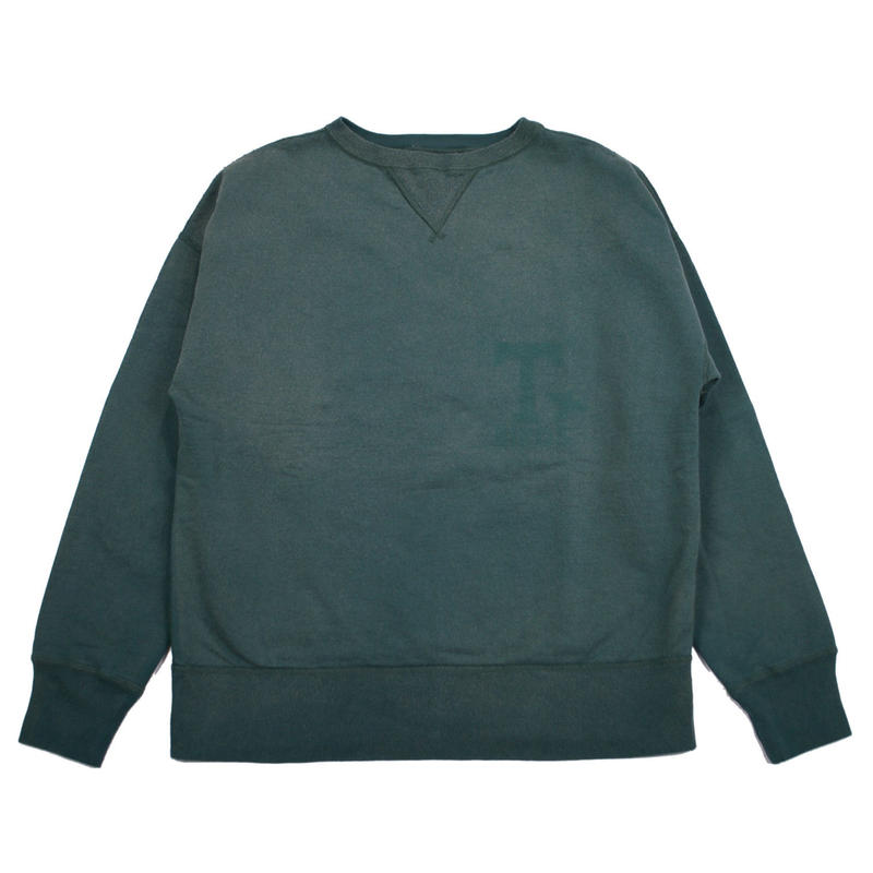 ※SUNBURN PROCESSING CREW NECK -GREEN- R7VT002