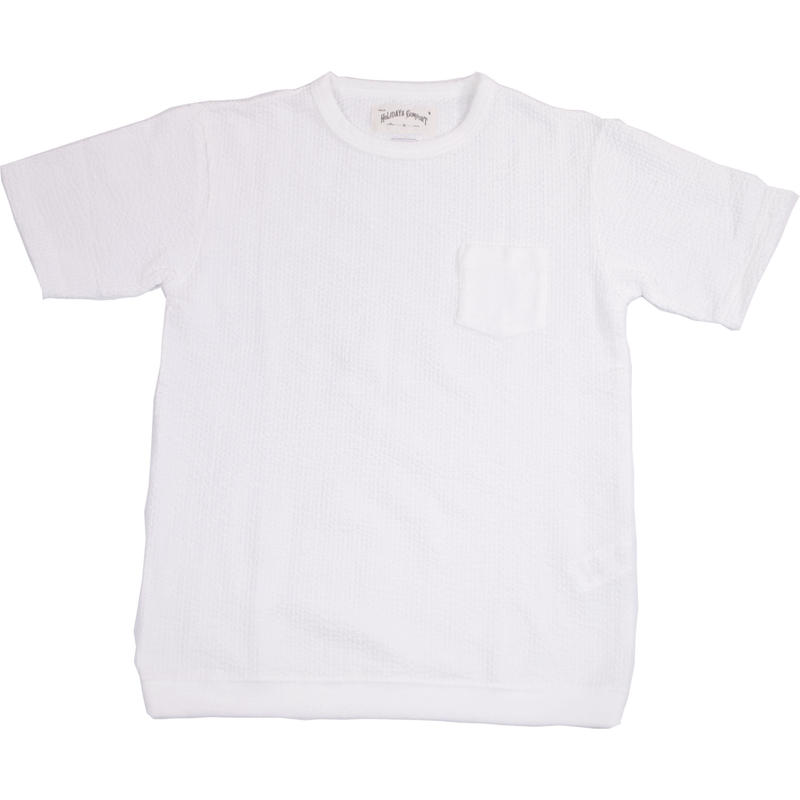 ※SEERSUCKER JERSEY POCKET S/S TEE -WHITE- H185-0302