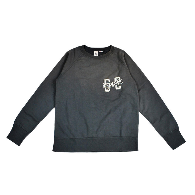 20AS SUNBURN PROCESSING RAGLAN CREW -BLACK-
