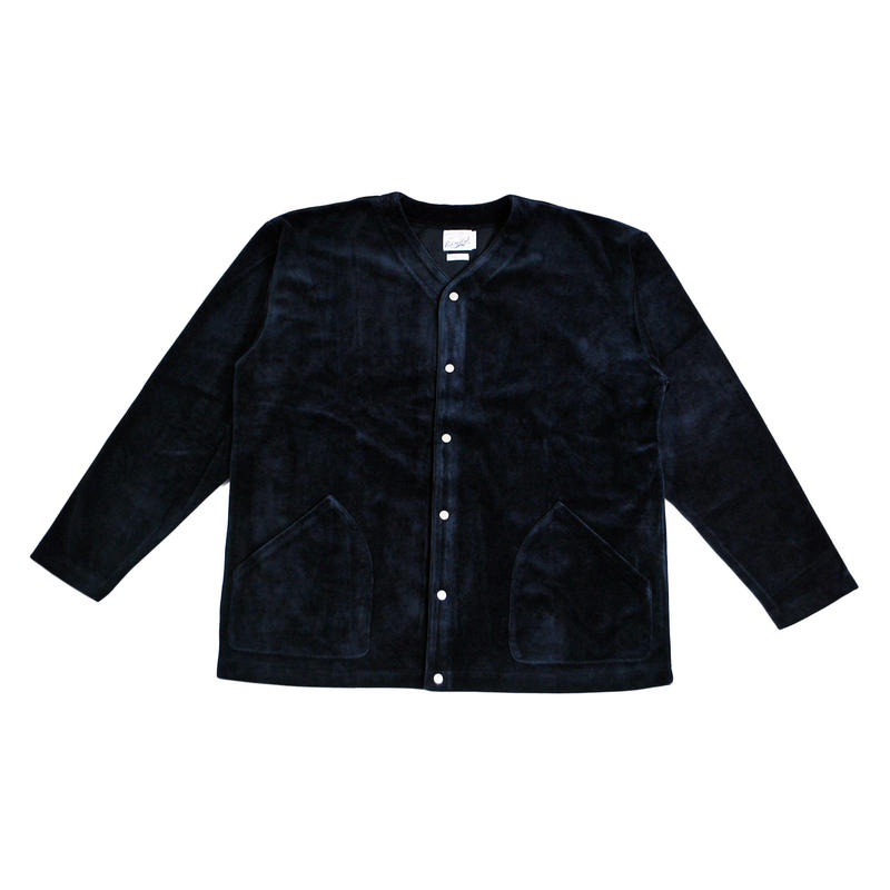 ※VELOUR FLEECE CARDIGAN -NAVY- R183-0609