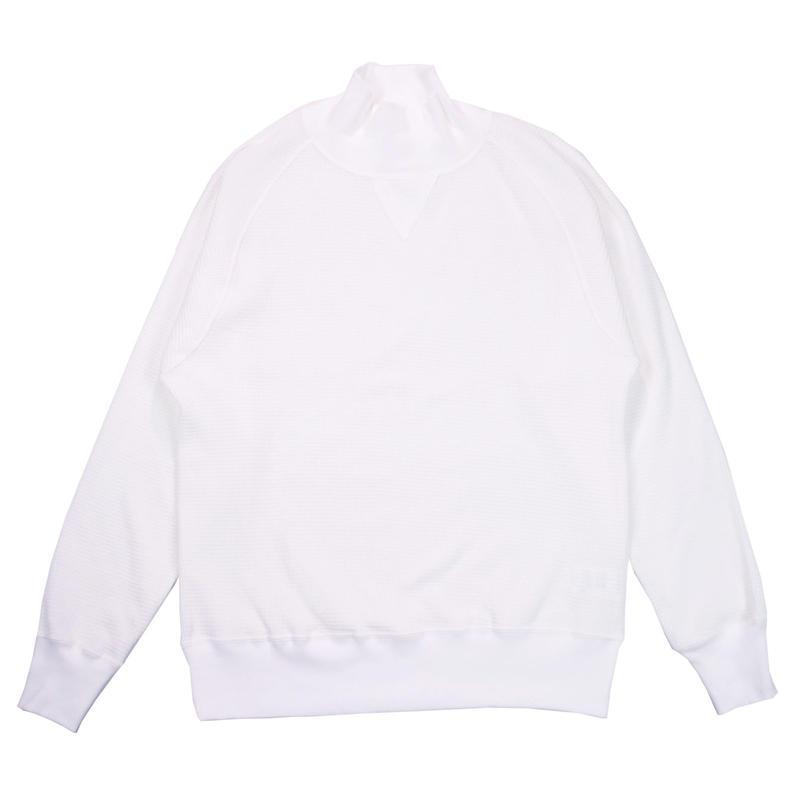※18/- WAFFLE TURTLE NECK -WHITE- H185-0105