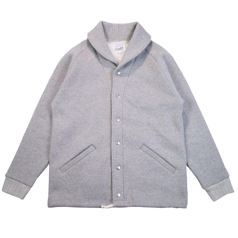 ※HEAVY FLEECE SHAWL COLLAR JACKET -MIX GRAY- R183-0612