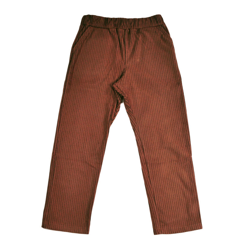 ※CORDUROY FLEECE TROUSERS -BROWN- R183-0502
