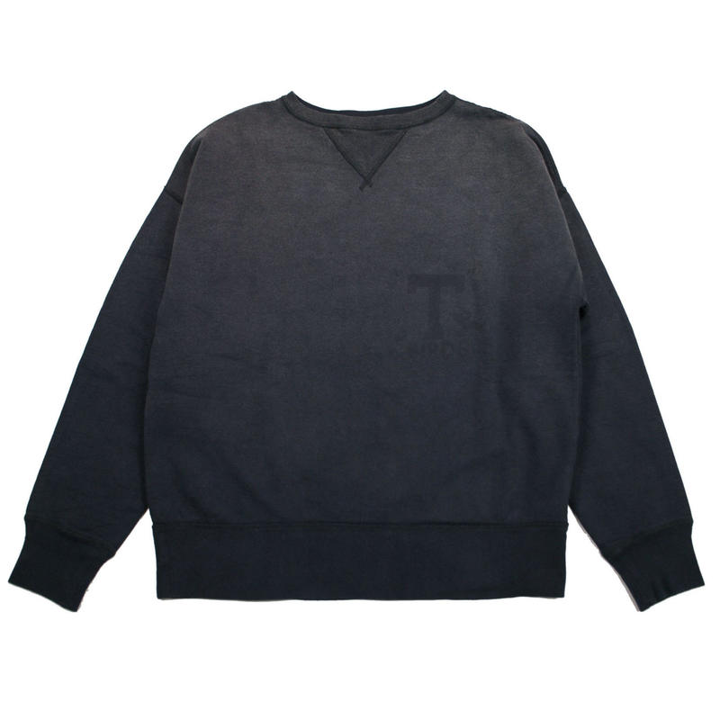 ※SUNBURN PROCESSING CREW NECK -BLACK- R7VT002