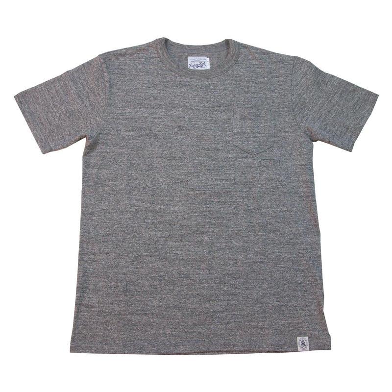 ※LOOPWHEEL POCKET T-SHIRTS -MIX GRAY- R185-0101