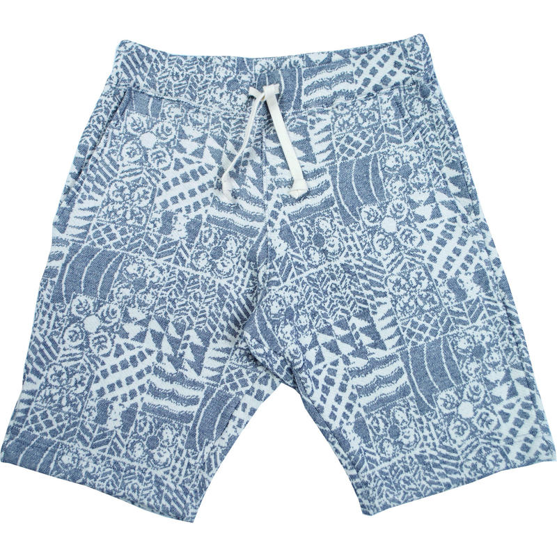 ※70's FLOWER JACQUARD SHORTS -NAVY- H191-0502