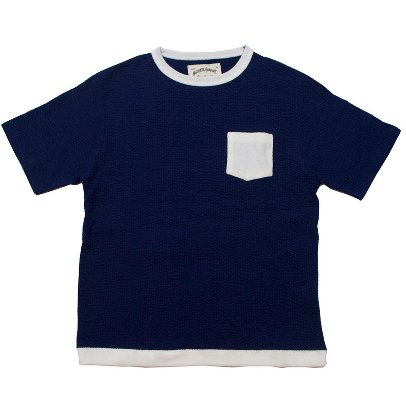 ※SEERSUCKER JERSEY POCKET S/S TEE -NAVY- H185-0302