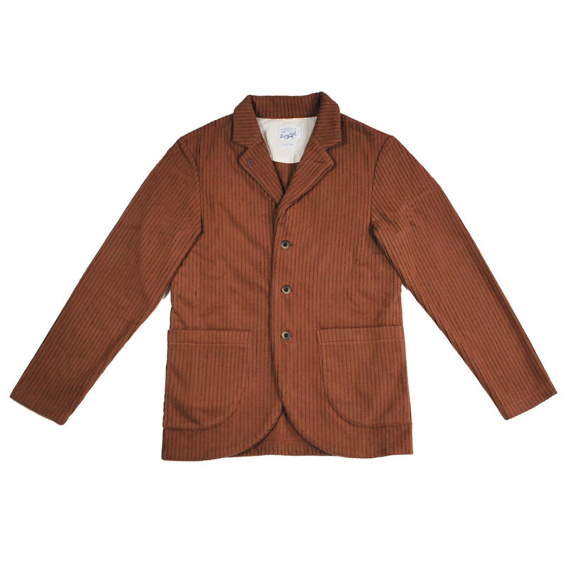 ※CORDUROY FLEECE JACKET -BROWN- R183-0607
