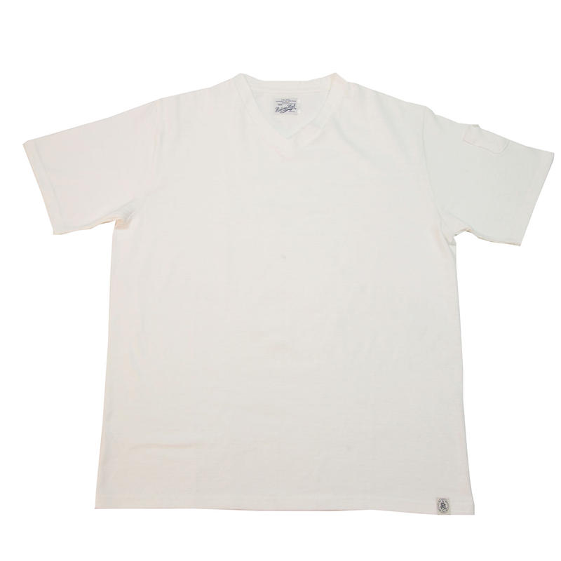 LOOPWHEEL V-NECK T-SHIRTS -OFFWHITE-