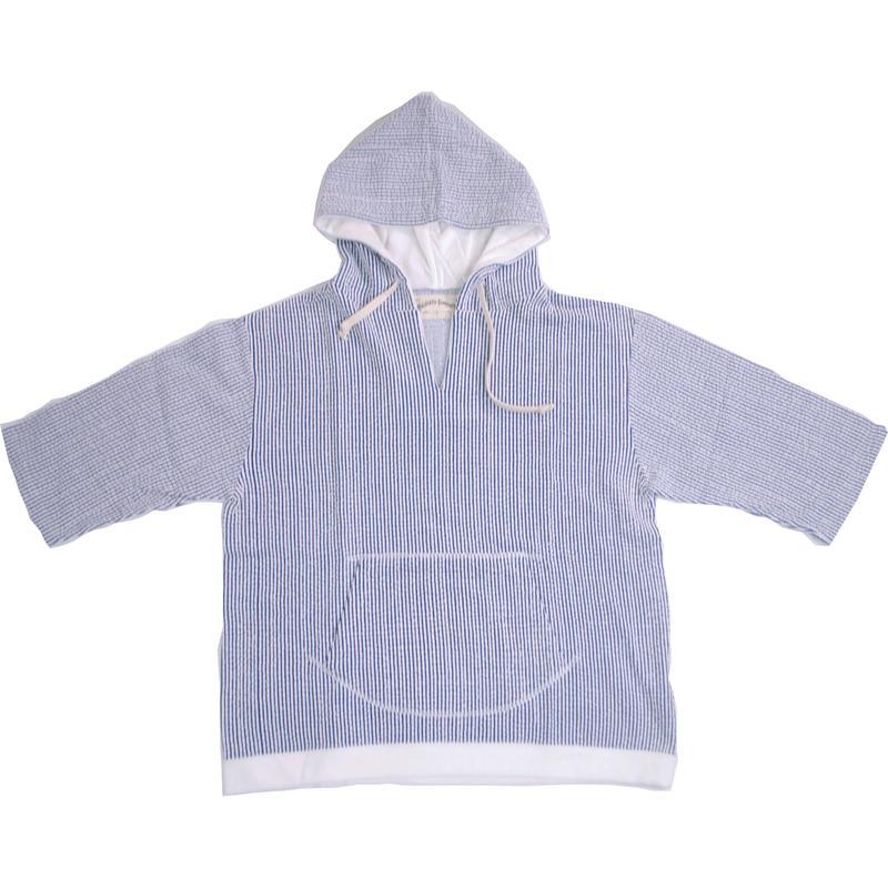 ※SEERSUCKER JERSEY HOODIE -BLUE- H185-0401