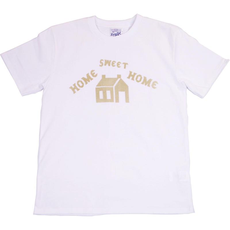 HOME SWEET HOME HAND FLOCKY TEE -WHITE-