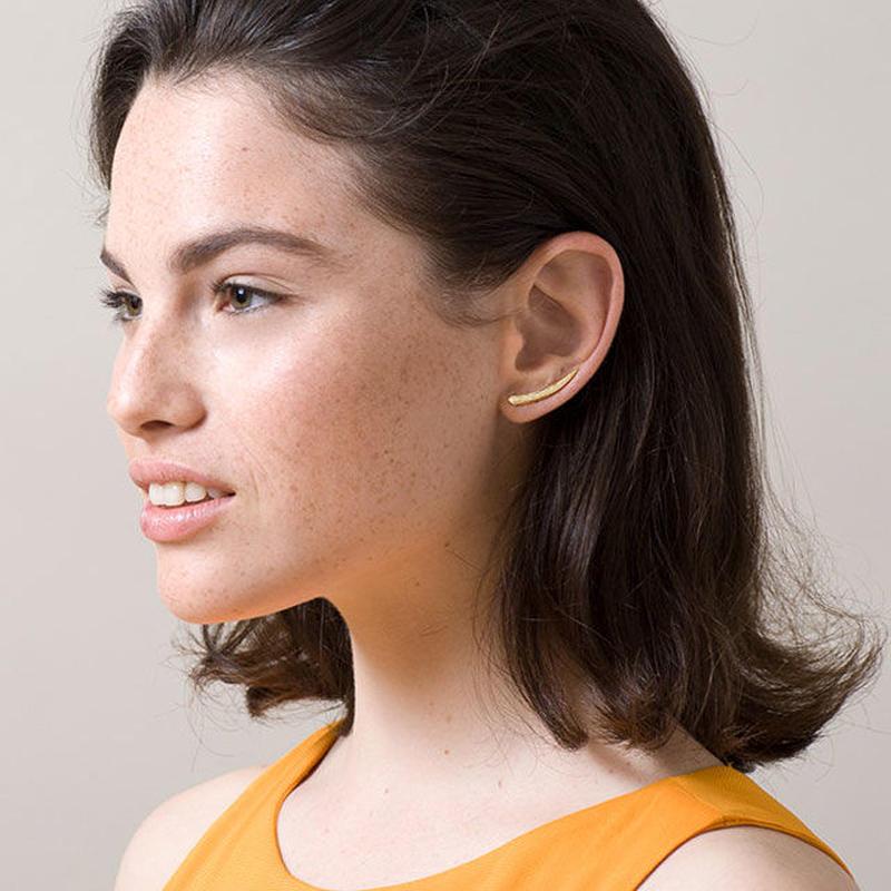 KE11 / KNOBBLY タスクモチーフのイヤーピン/両耳セット(ゴールド)【イスラエル】