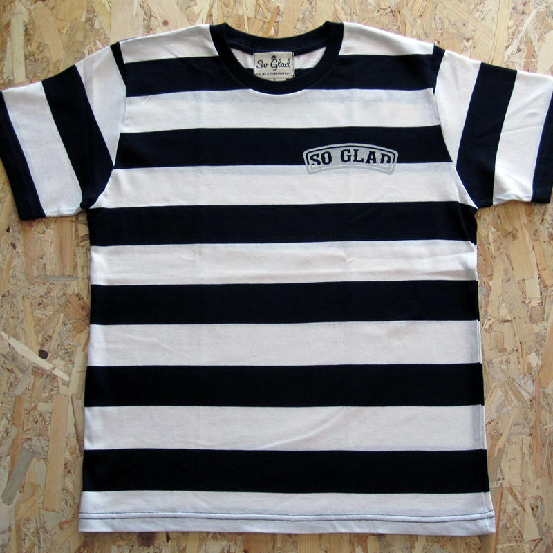 So Glad Bold Border TEE White × Black