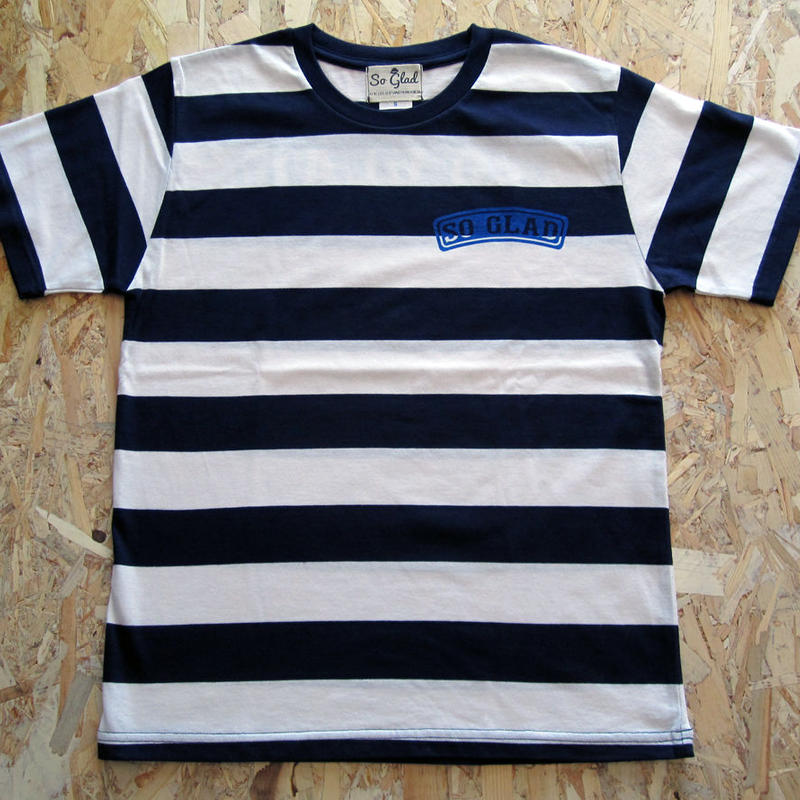 So Glad Bold Border TEE White × Blue