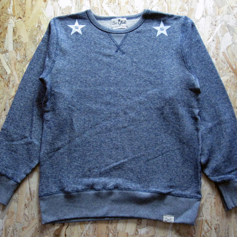 So Glad Star French Terry Sweat V・H・Blue
