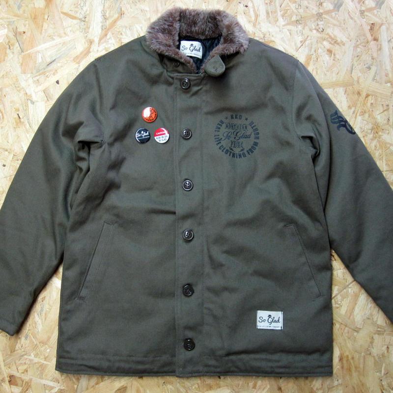 So Glad N-1 Jacket Kahki