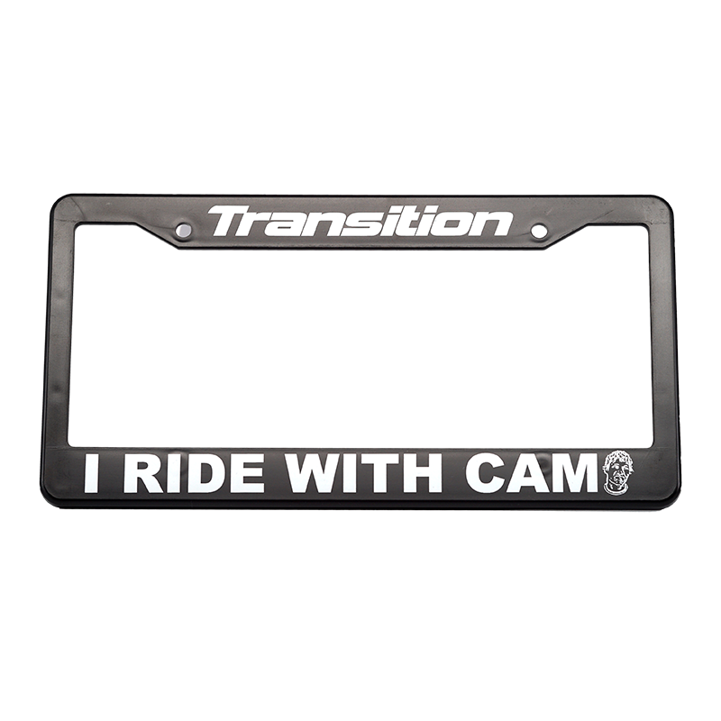 "Transition License Plate Cover ""I RIDE WITH CAM"""