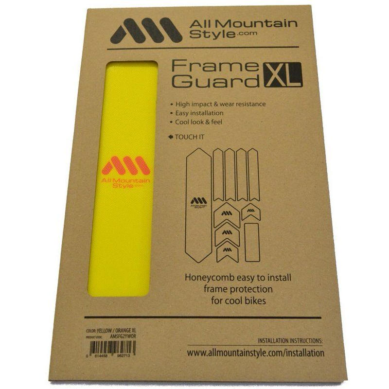 AMS Honeycomb Frame Guard XL. NEW YELLOW