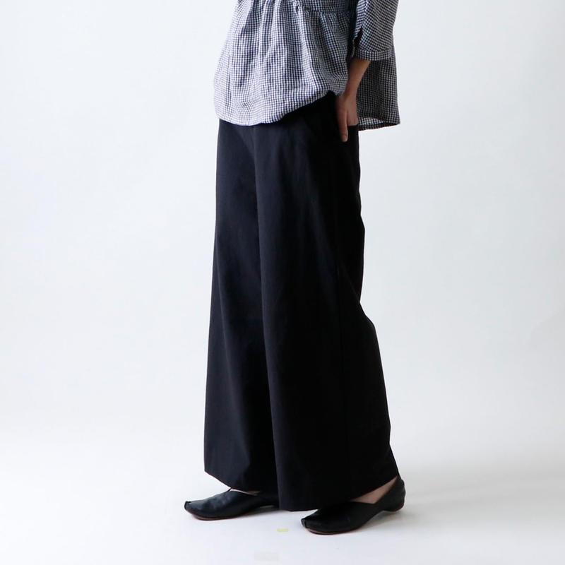 セーラー・ワイド・パンツ/ブラック