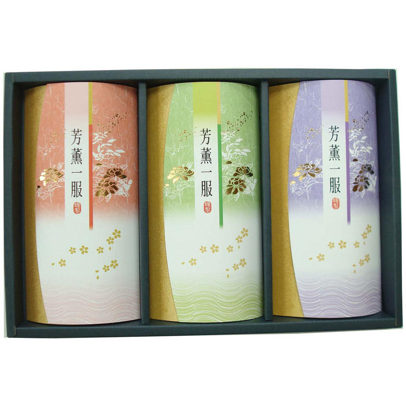 特上煎茶「珠の露」100g×3本 デラックス箱入