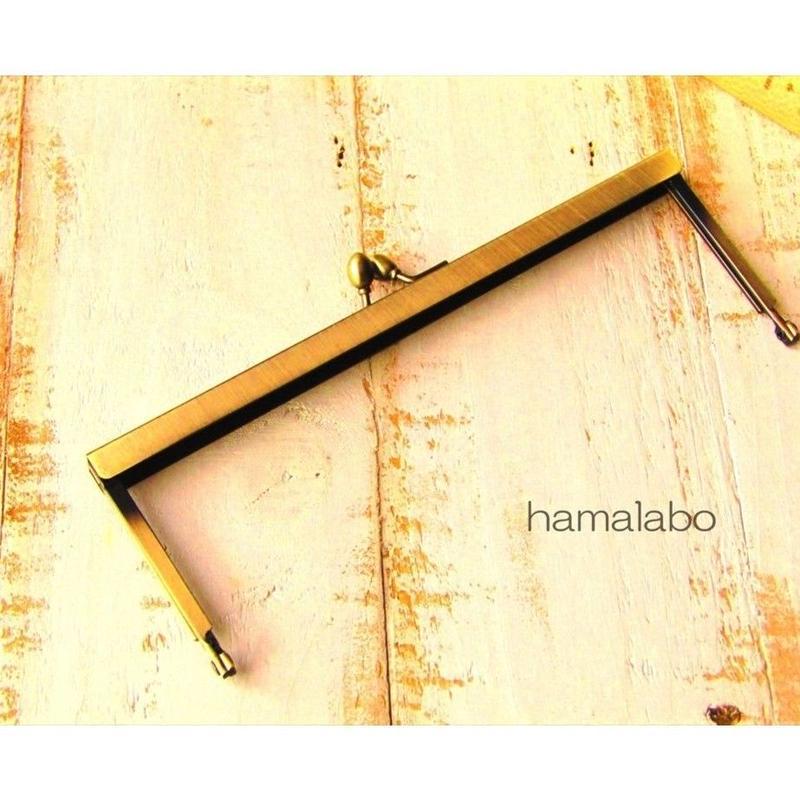 【HA-1535】19cm浮き足口金/ナツメ玉(アンティークゴールド)