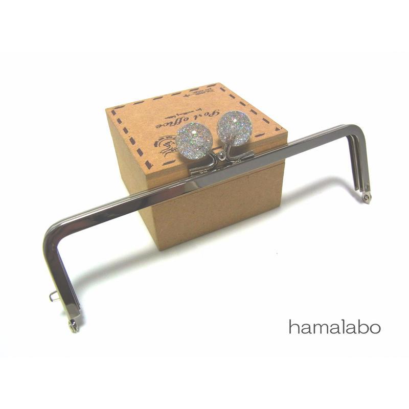<廃盤予定>売り切り価格!【HA-1246】16.5cm/角型(クリスタルスモールラメ)・シルバー
