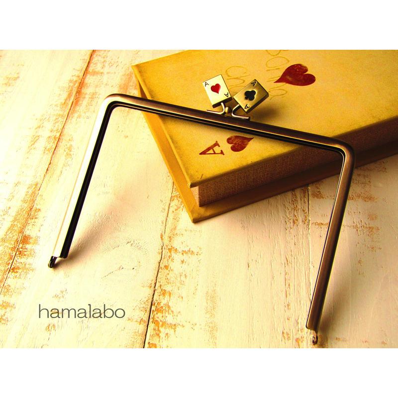 【HA-443】17.7cm角型(トランプ×アンティークゴールド)