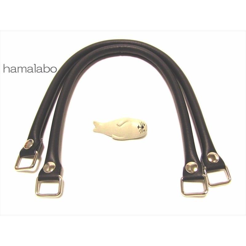【HA-570】<ホック式>ショルダー持ち手50cm(黒)-YAK-5005S