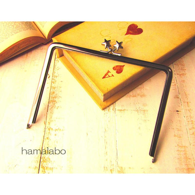 【HA-1411】17.7cm/角型(メタルスター×シルバー)