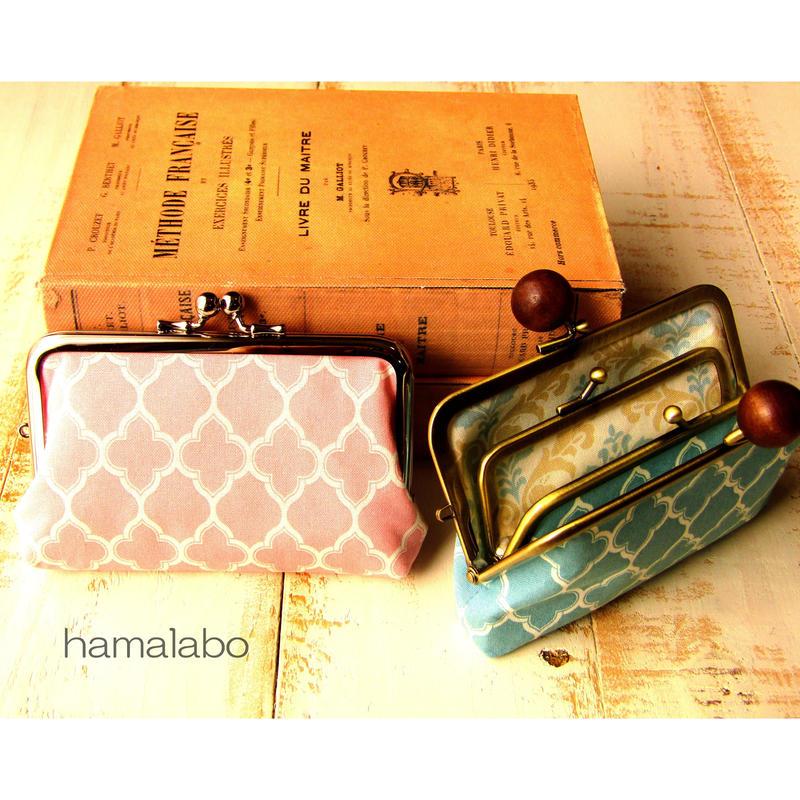 【KT-2028】コンパクト親子がま口の財布(マチあり)の型紙&レシピ【12cm角型用】