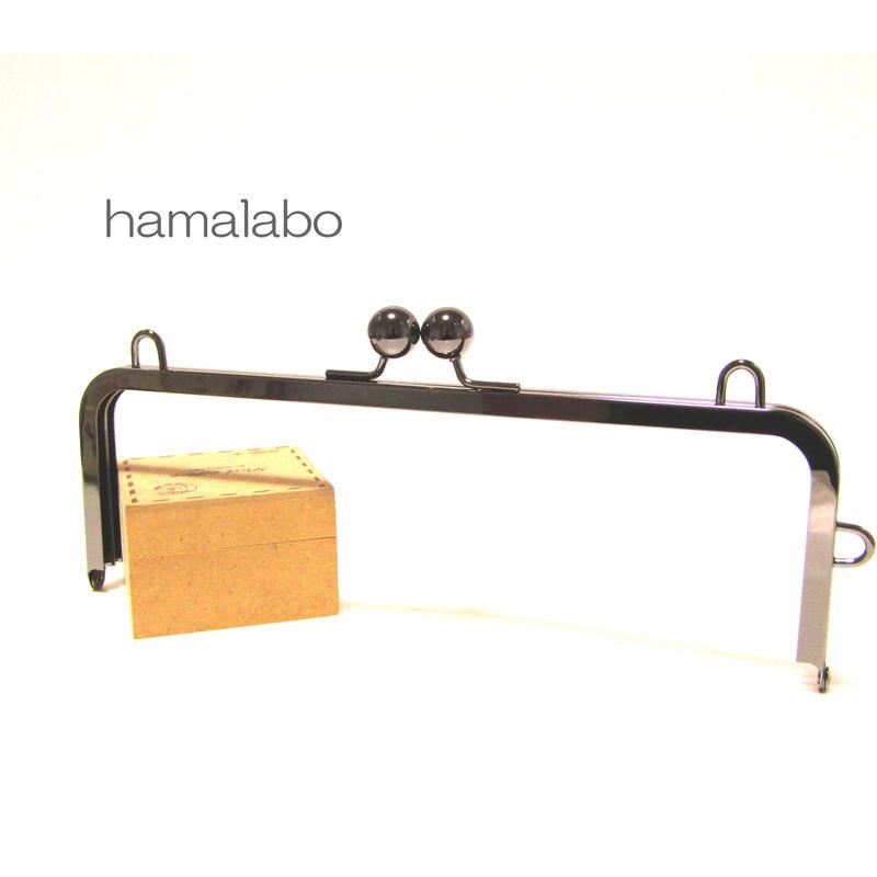 【HA-368】27cm大玉口金/角型ブラック/カン付き+(プラス)