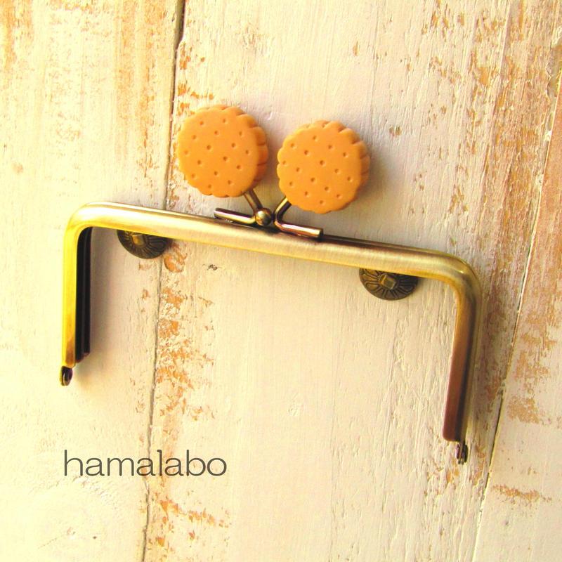 【HA-425】<ビスケット口金>12cm/角型(アンティークゴールド)