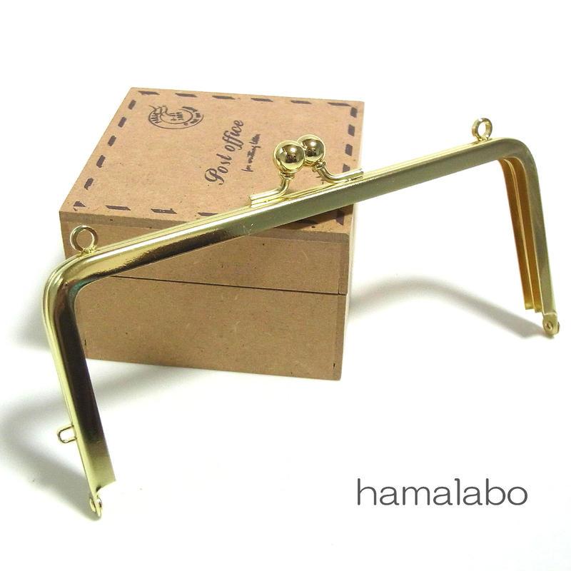 【HA-1391】13.5cm/角型口金(ゴールド)カン付き