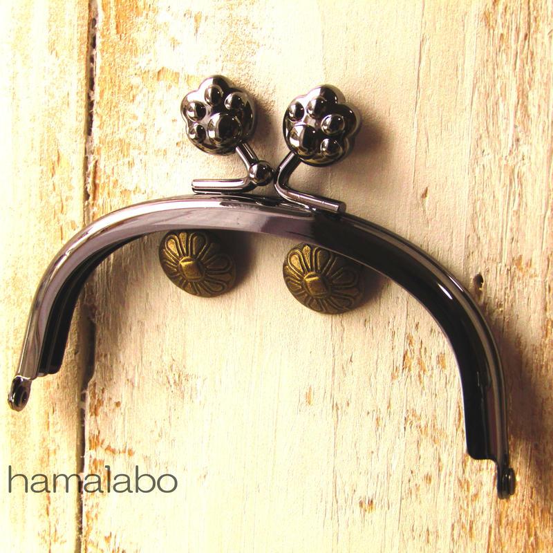 【HA-1104】10cm/くし型(肉球)・ブラック