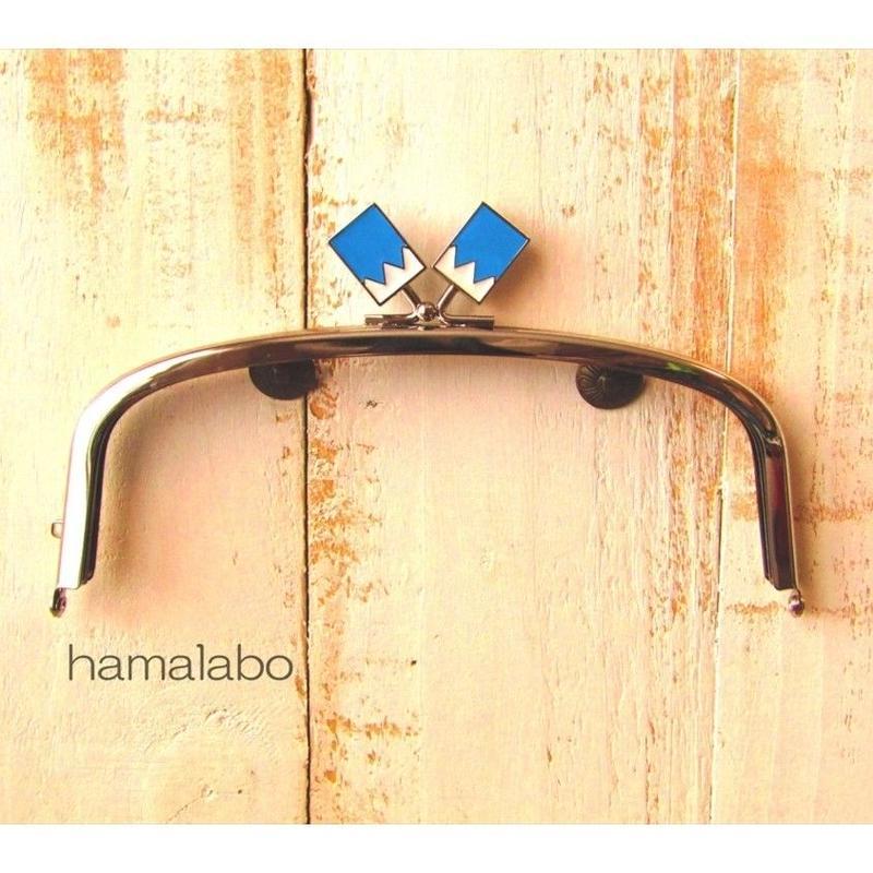 3月18日販売開始!【HA-1562】17cm/くし型の口金/(新撰組×シルバー)