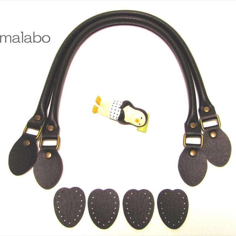 【HA-558】<縫い付けタイプ>手さげ持ち手48cm(黒)-YAK-480